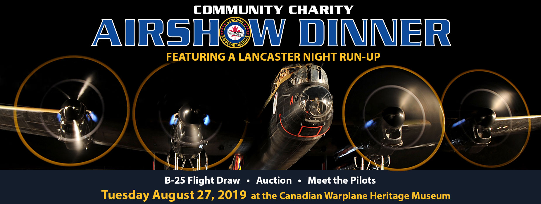 Poster for Community Charity Airshow Dinner